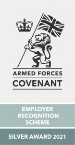 Armed Forces Employer Recognition Scheme Silver Award Logo